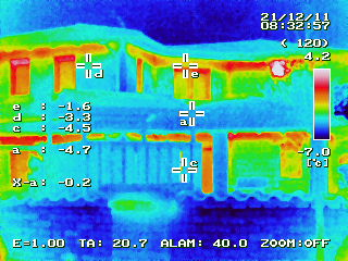 BRICK house thermo cam